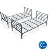 Bed metal folding  two-stage with ladder and guardrail KM14 KM14 with safety package 90x200sm